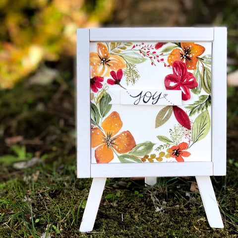 Joy in Bloom Easel Decor