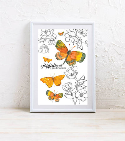 Mini Art Print: Joyful Heart