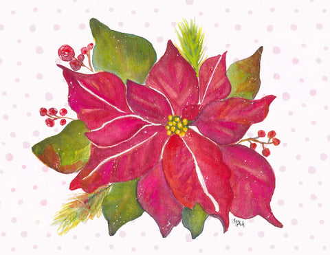 Posh Poinsettia Art Print Download