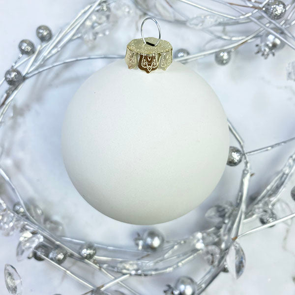 Ceramic Ball Ornaments Holly and Ivy Collection