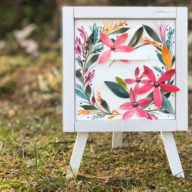 Whimsical Florals Easel Decor