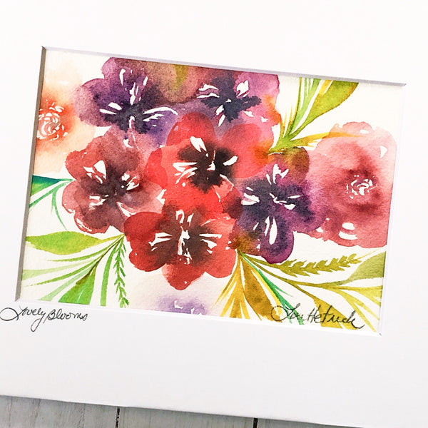 Watercolor Original: Lovely Blooms