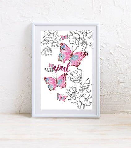 Mini Art Print: With My Soul