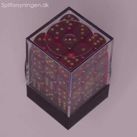 Borealis™ – 12mm d6 Magenta w/gold Dice Block™