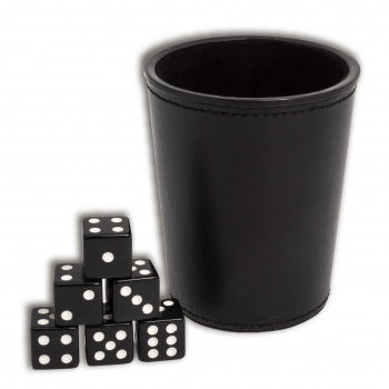 Dice Cup Black Leather