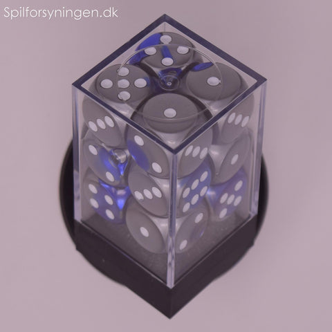 Gemini™ – d6 Blue-Steel w/white Dice Block
