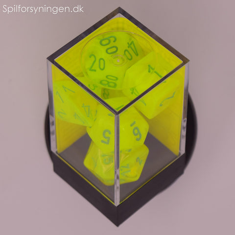 Vortex™ – Polyhedral Electric Yellow w/green 7-Die Set