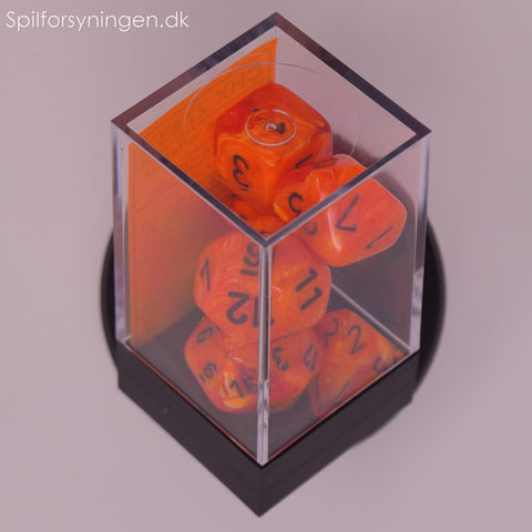 Vortex – Polyhedral Orange w/black 7-Die Set