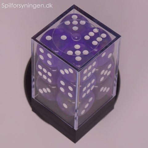 Borealis™ – 16mm d6 Purple w/white Dice Block