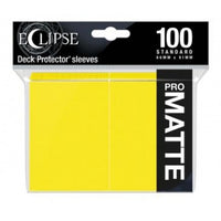 Ultra Pro Eclipse Lemon Yellow 100 Matte Sleeves