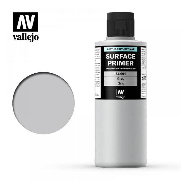 (74601) Vallejo Surface Primer - Grey (200ml)