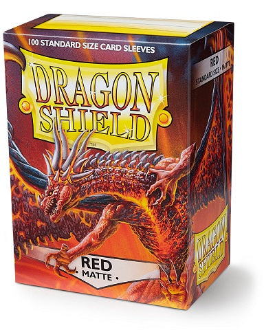 Dragon Shield Matte Sleeves -100 - Red