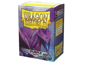 Dragon Shield Non-Glare Matte Sleeves (100) - Purple
