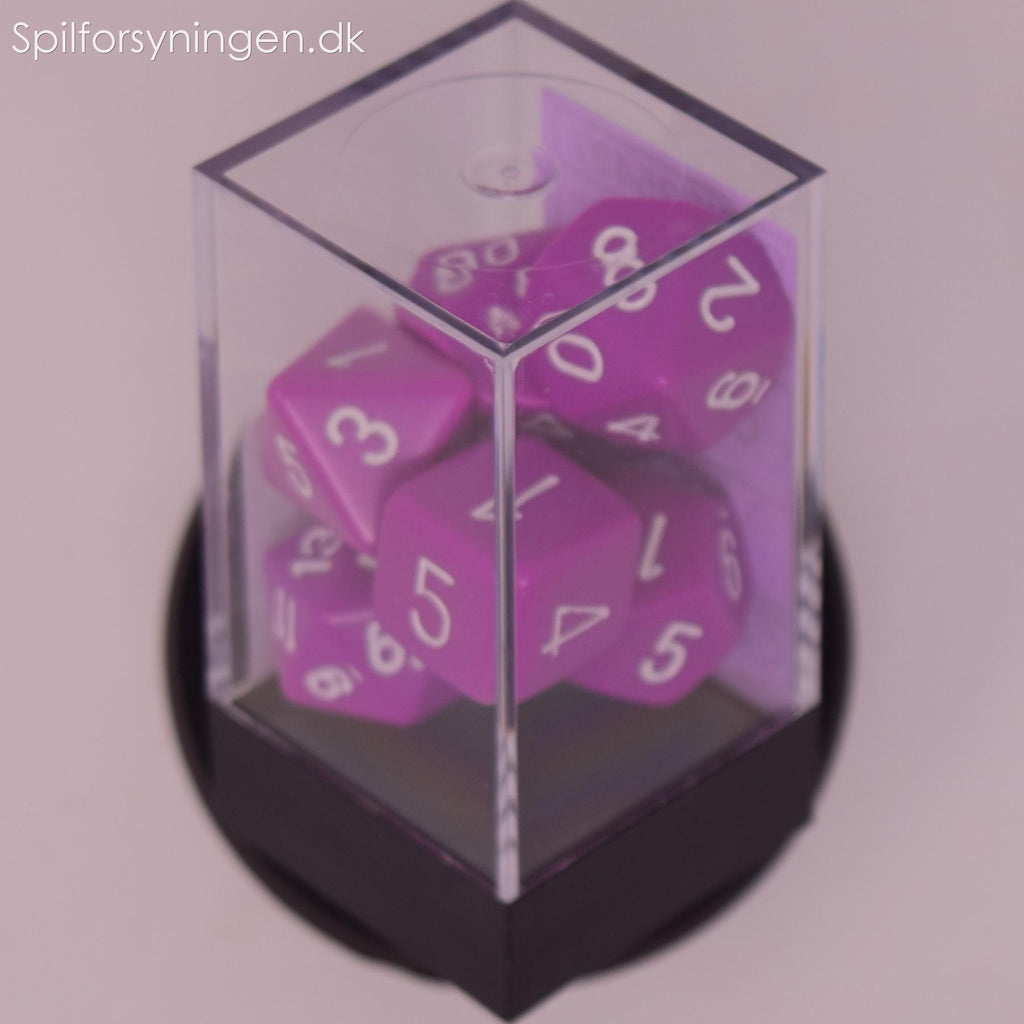 Opaque – Polyhedral Light Purple/white 7-Die Set
