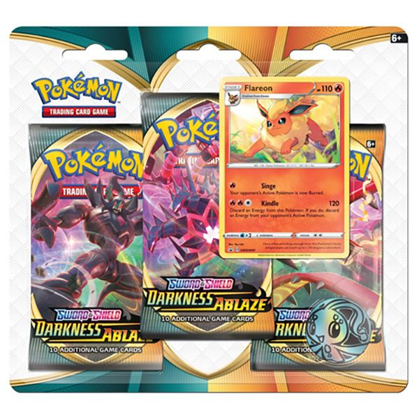 *Forudbestilling* Pokemon Sword & Shield 3 Darkness Ablaze Triple Booster Blister