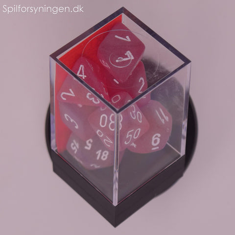 Frosted™ – Polyhedral Red w/white 7-Die Set