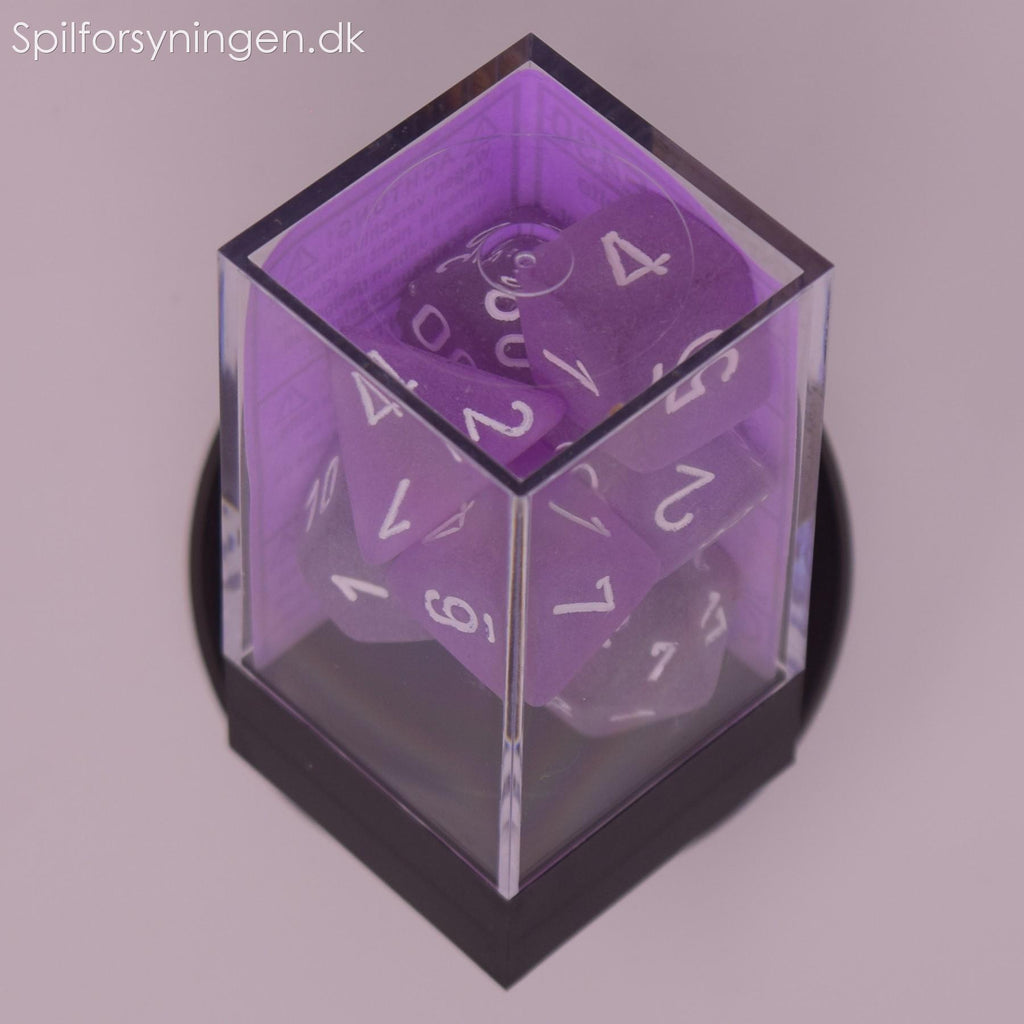 Frosted™ – Polyhedral Purple w/white 7-Die Set
