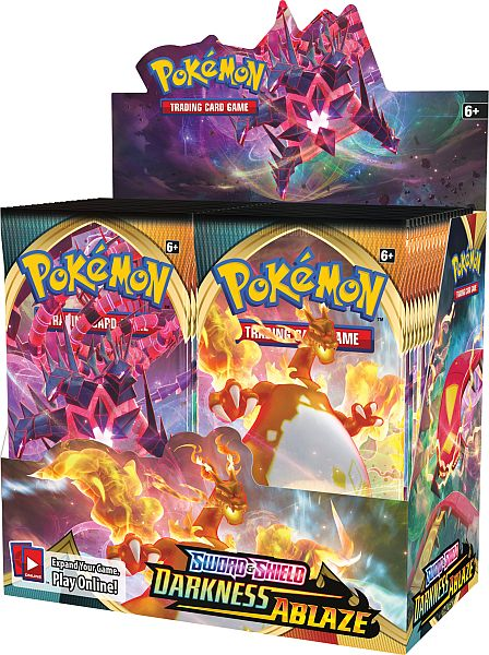 *Forudbestilling* Pokemon Sword & Shield 3 Darkness Ablaze Display