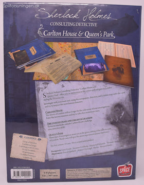 Sherlock Holmes Consulting Detective Carlton House & Queen's Park (Eng)