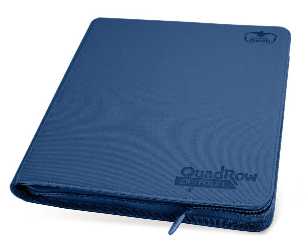 12 Pocket Quadrow Blue ZipFolio XenoSkin