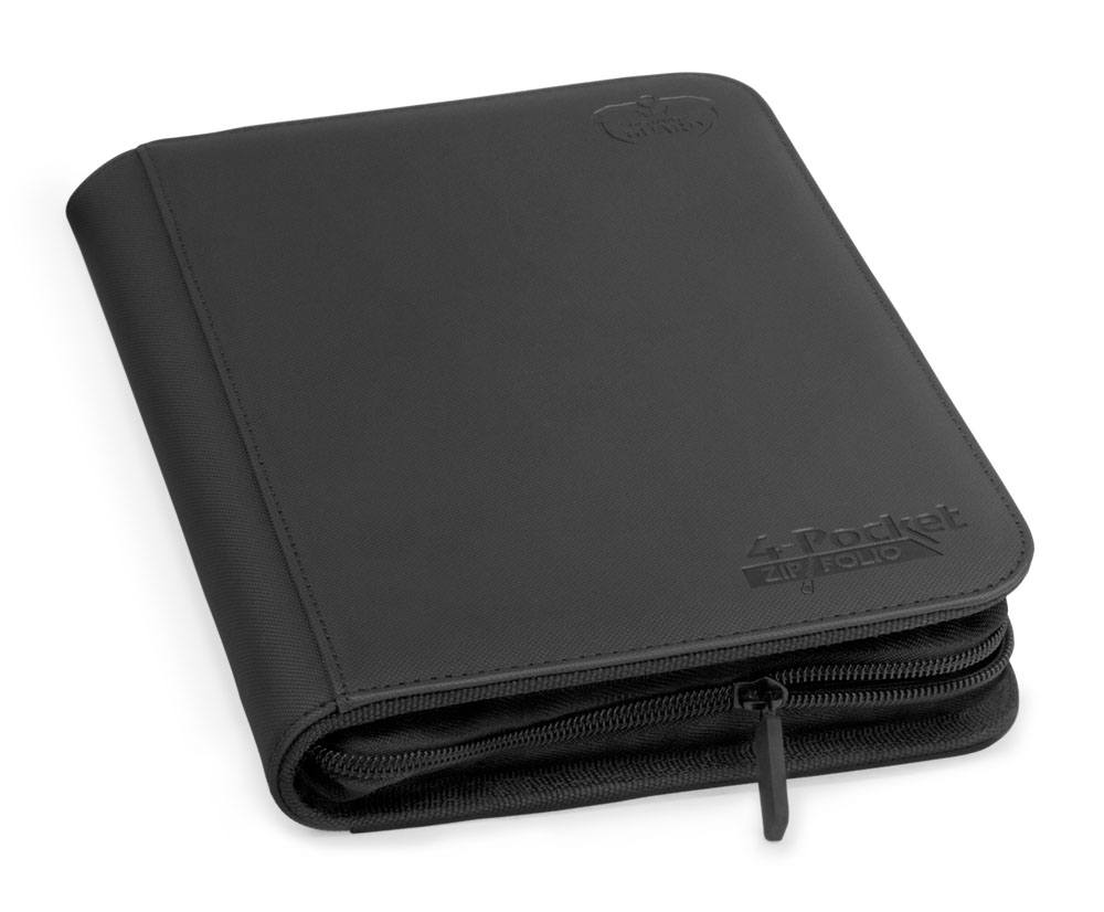 Ultimate Guard 4-Pocket Black ZipFolio XenoSkin