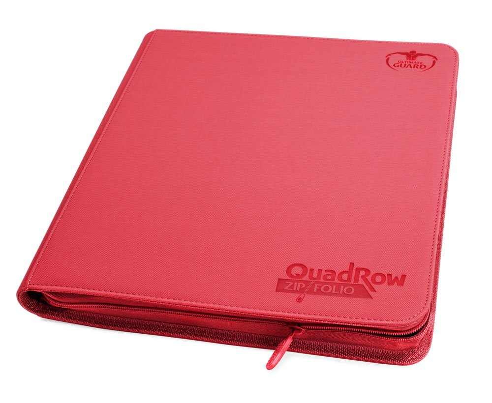 Ultimate Guard Zipfolio 480 - 24-Pocket XenoSkin™ (Quadrow) - Red