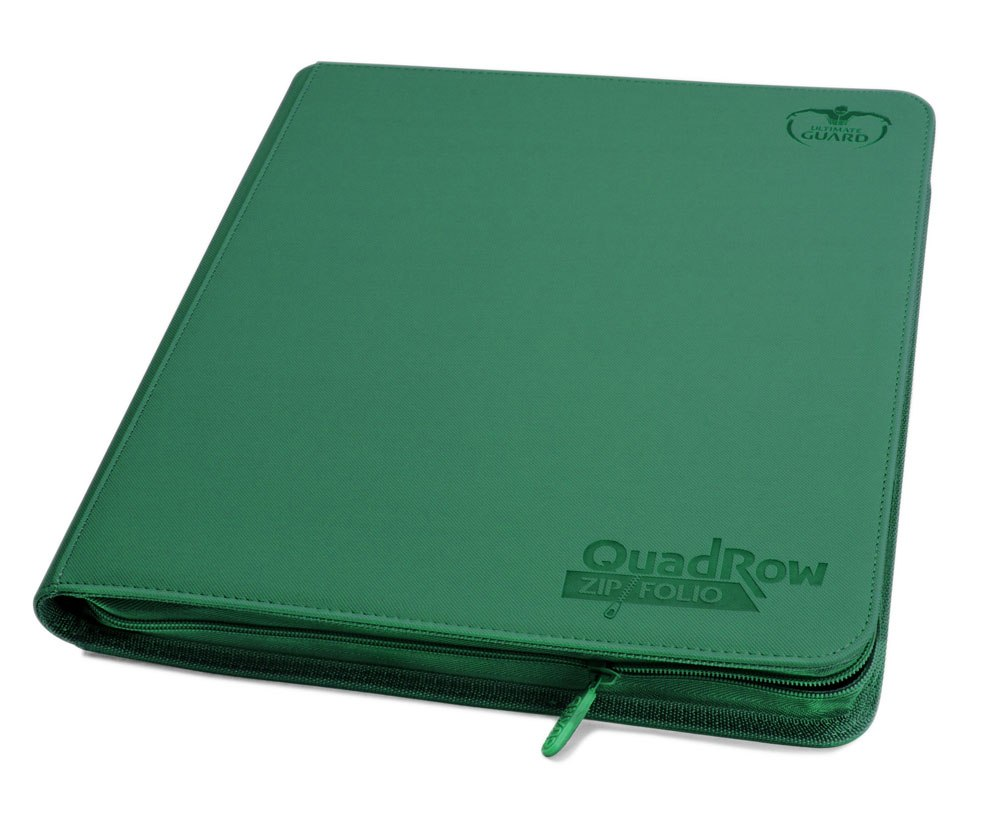Ultimate Guard Zipfolio 480 - 24-Pocket XenoSkin™ (Quadrow) - Green