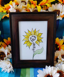 Sunflower Ogham