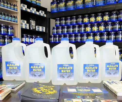 Alkalate Water 1 Gallon(5 Pack-Total of 5 Gallons)- Premium Ultra Hydrating Pure High Alkaline Water PRIDE NUTRITION