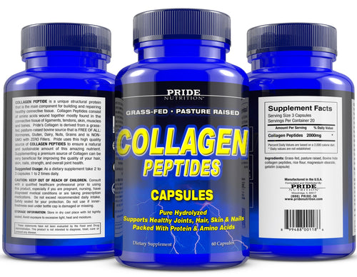 Collagen Peptide 60 Capsules PRIDE NUTRITION