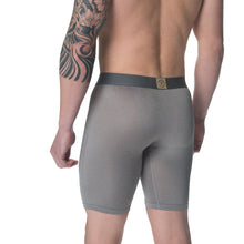 Men's Quick Dry Silver Sports Boxer Brief Underwear