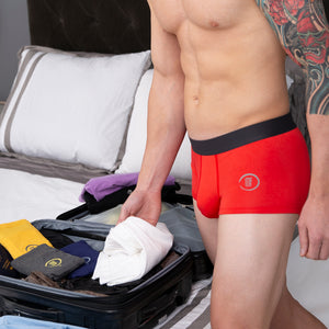 Red Bamboo Ultra Comfort Boxer Brief Underwear Large