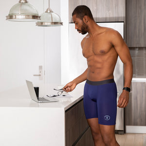 Men's Quick Dry Navy Sports Boxer Brief Underwear