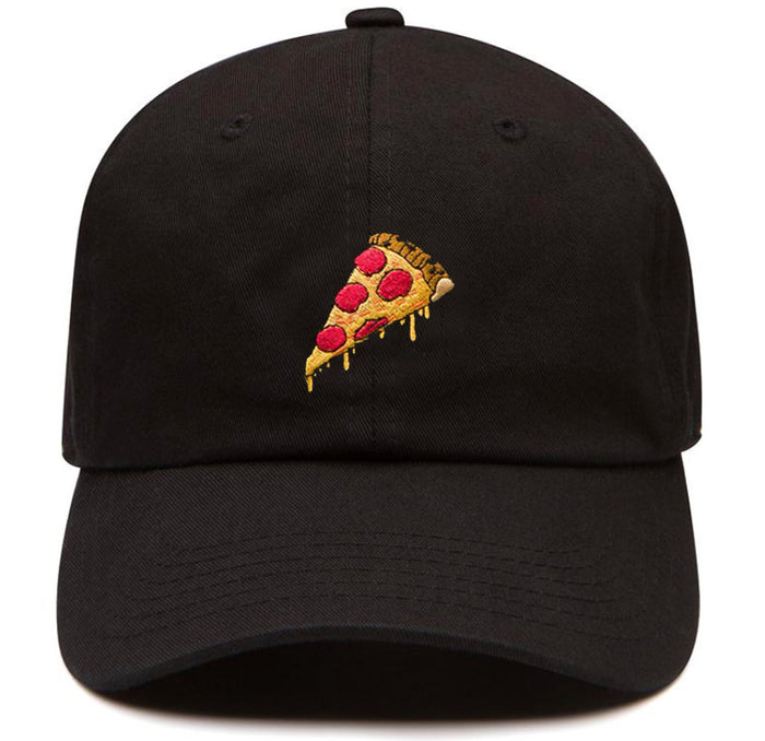 Pizza dad hat black hat
