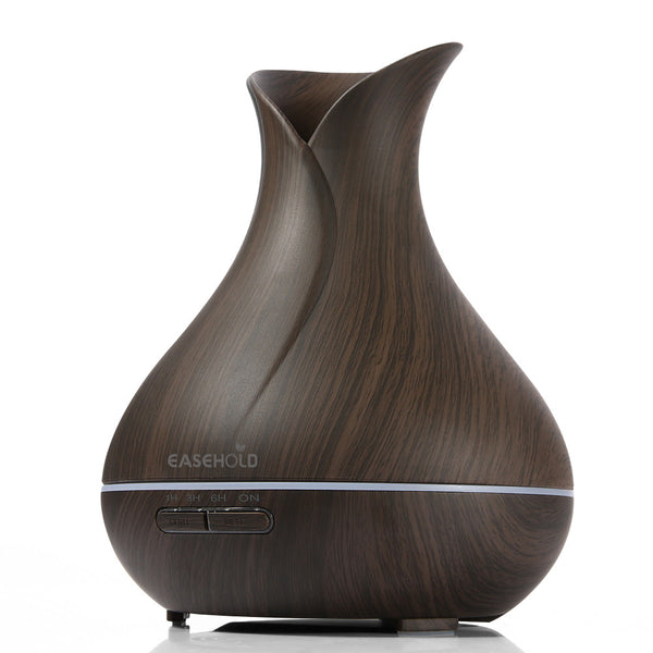 Ultrasonic Aromatherapy Humidifier with Colorful Lights Wood Grain Air Purifier