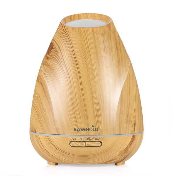 Essential Oil Diffuser Wood Grain Ultrasonic Cool Mist Humidifier LED Lights for Home, Office, Bedroom