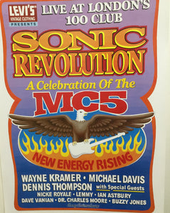 MC5 Sonic Revolution Gig Poster by Levi's and GARY GRIMSHAW  at London's 100 Club