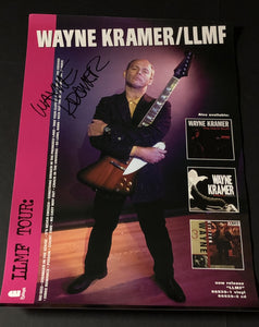 LLMF Tour Poster Signed by Wayne Kramer
