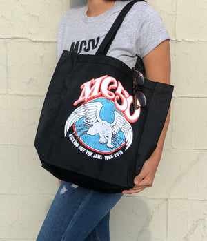 MC50th Winged Panther Heavy Canvas Tote Bag