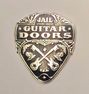 Jail Guitar Doors Enamel Pin Wayne Kramer Billy Bragg Prison Reform