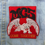 """COME TOGETHER"" MC5 Winged Panther patch HANDMADE by PatchYaLater"