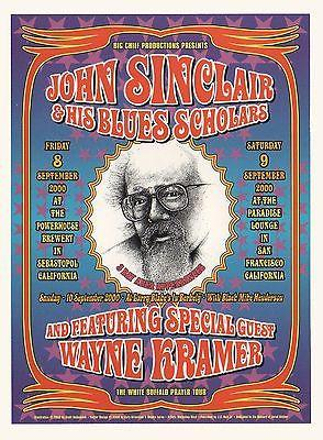 John Sinclair & His Blues Scholars Concert Poster Ft. Wayne Kramer of the MC5
