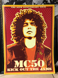 young wayne kramer on a red MC5 MC50TH kick out the jams poster