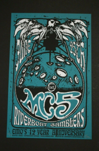 MC5 & DKT Silkscreen Poster Inspired by Gary Grimshaw