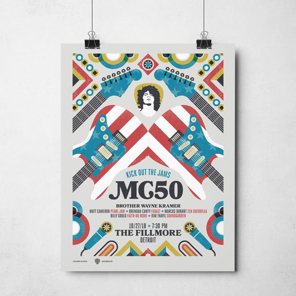 motor city 5 mc50th fillmore detroit gig poster
