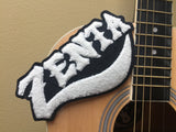 zenta new year black and white chenille patch on guitar