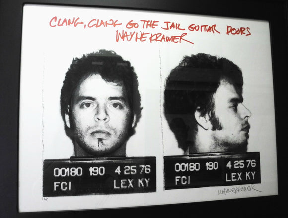 Young Wayne kramer mugshot standing front and side profile