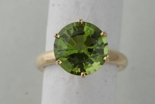 Peridot Crown Ring
