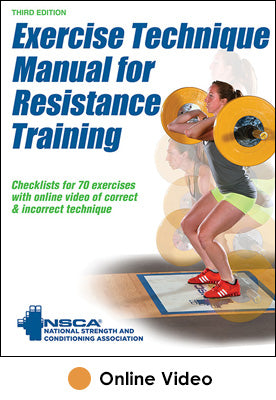 Exercise Technique Manual for Resistance Training Online Video-3rd Edition