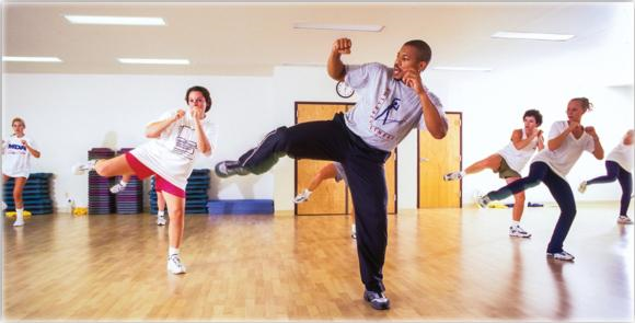 Recreational sport programs are offered through a variety of organized types, like this private health and fitness club.